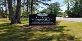 Signage for Culley's Meadowood Funeral Memorial Park