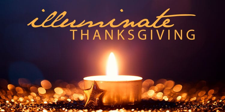Illuminate Thanksgiving candle