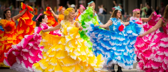 Women in colorful dresses in Tallahassee