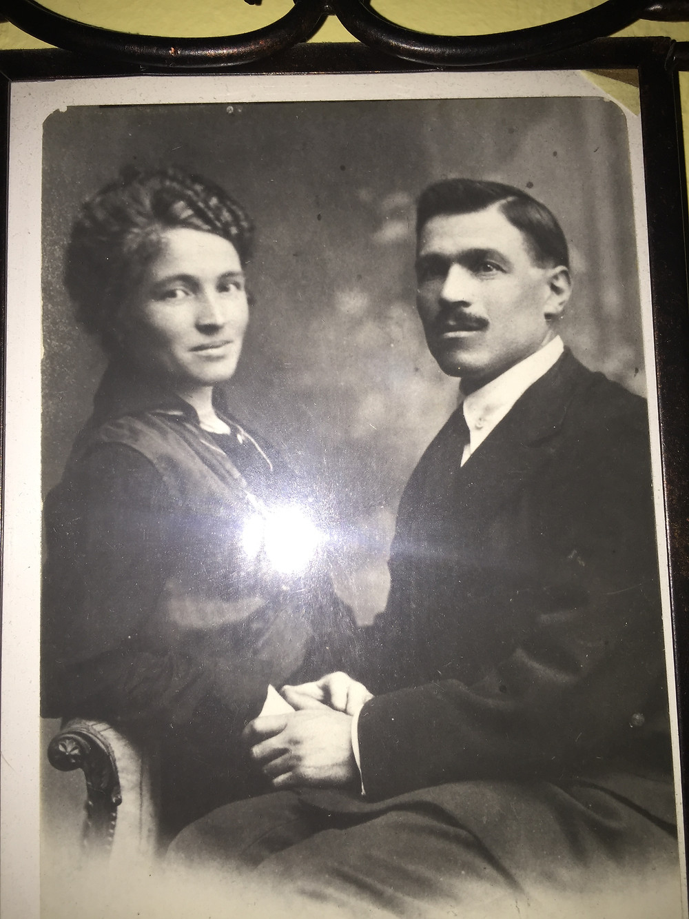 Old photo of grandparents