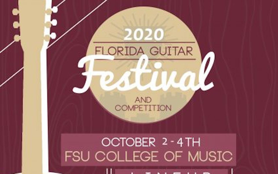 Signage for the Guitar Festival Tallahassee Florida