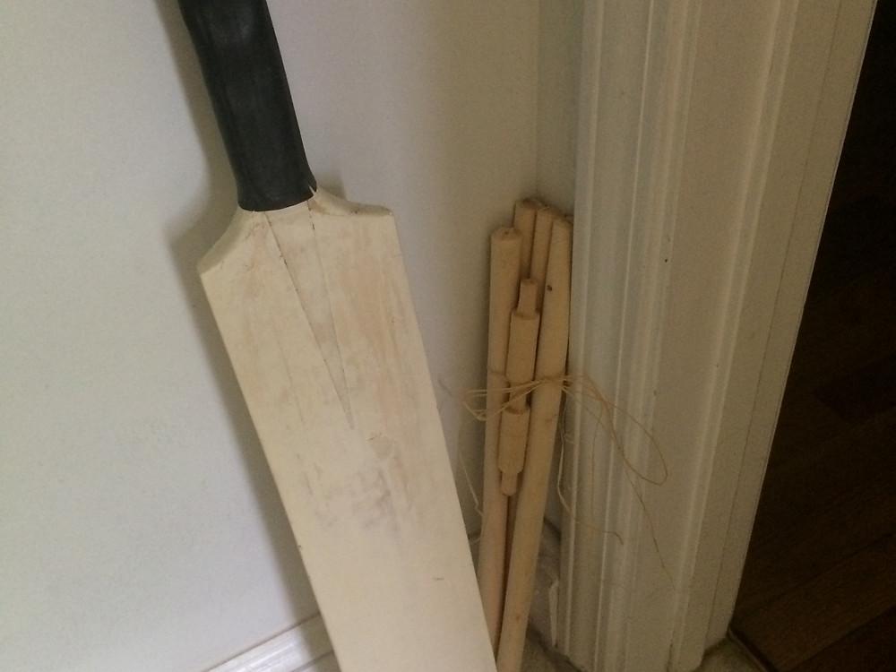 Cricket bat, wicket