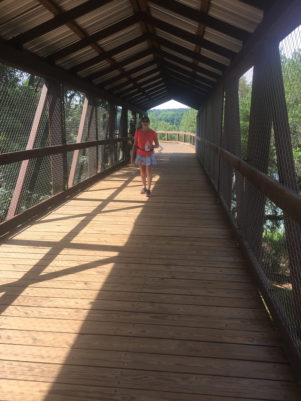 Covered bridge at the Alford Greenway