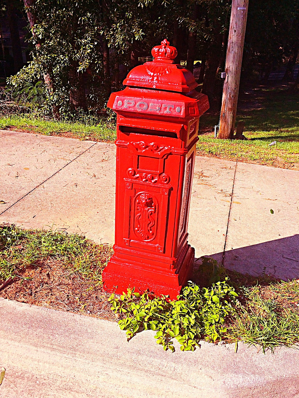 British mailbox at our bed and breakfast