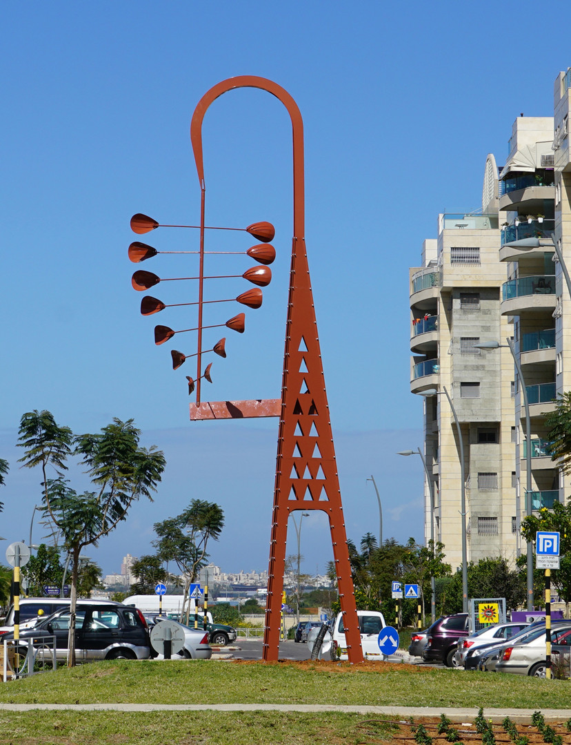 WIND VANE RISHOM LETAIYON ,METAL 9 M  HIGH