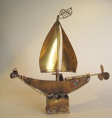 wind vane h-40cm brass