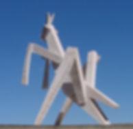 A wooden grasshopper