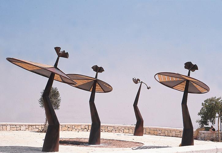 Umbrellas , metal &wood 5m' high