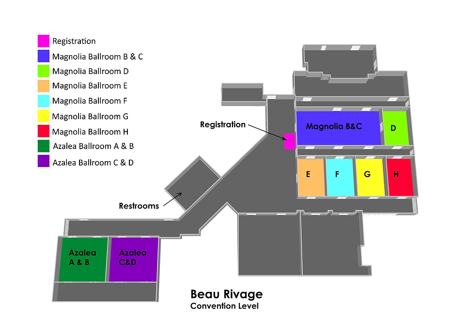 Beau Rivage Convention Level w legend.png