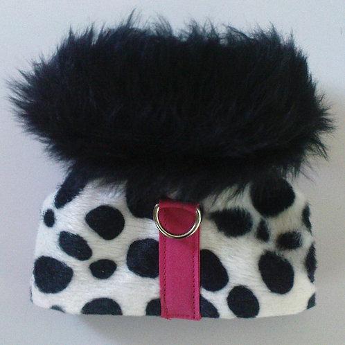 Dalmatian Black Fur Collar