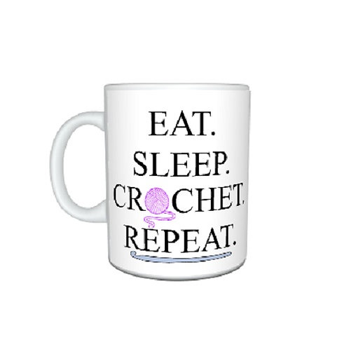 Eat Sleep Crochet Mug