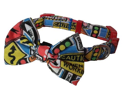 Roadworks! Bow Collar