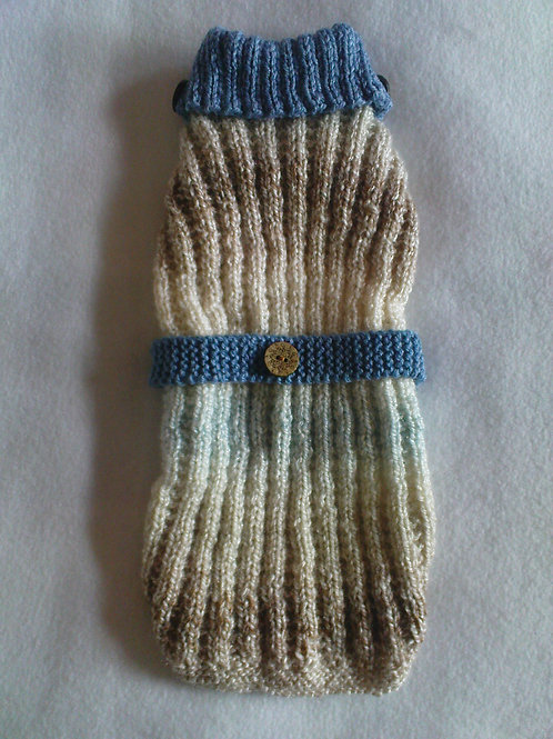 Smokey Blues Hand Knitted Jumper