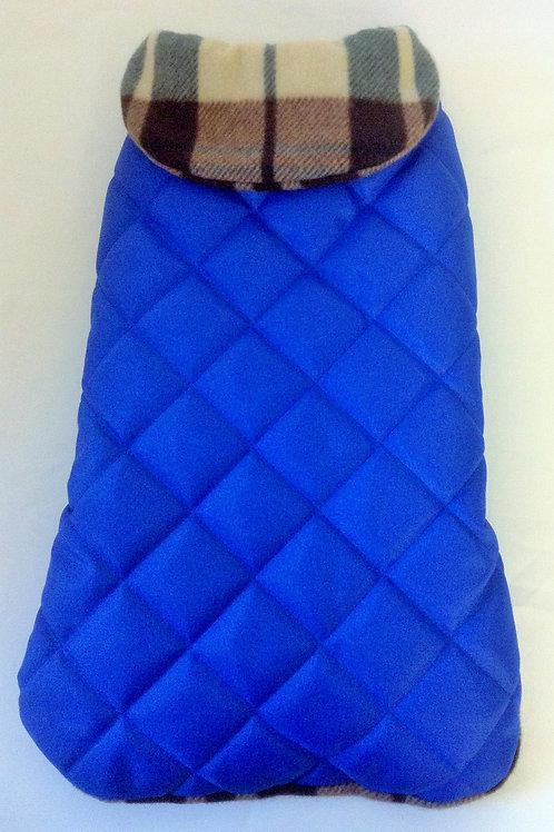 Royal Blue & Check Waterproof Coat