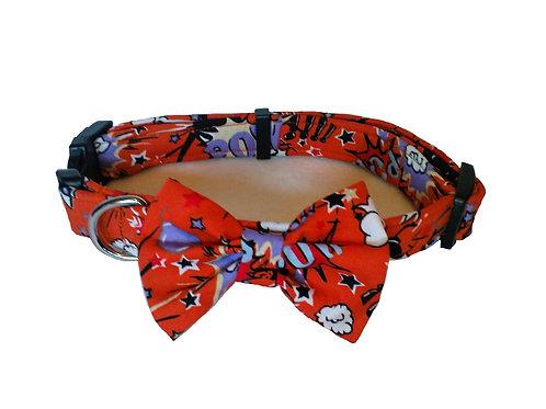 Retro Comic Bow Collar