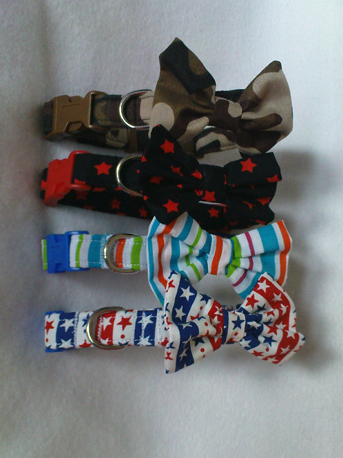 Camouflage Bow Collar