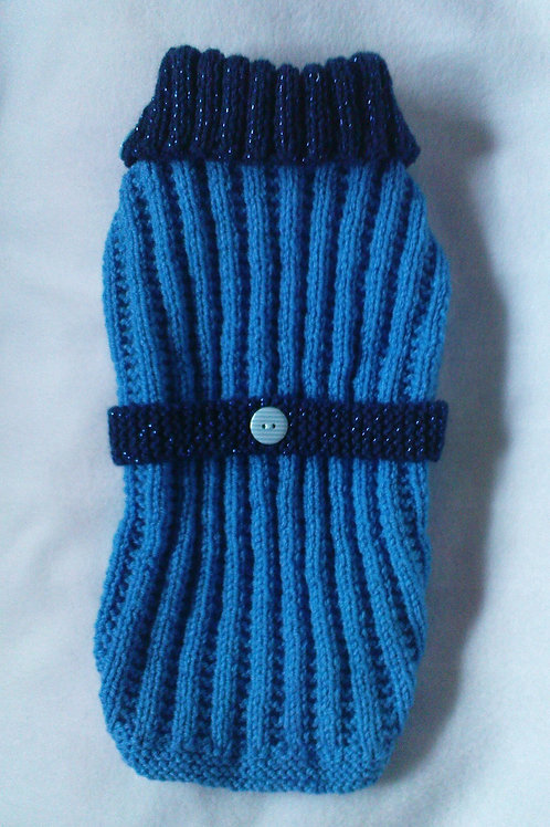Blue Hand Knitted Jumper