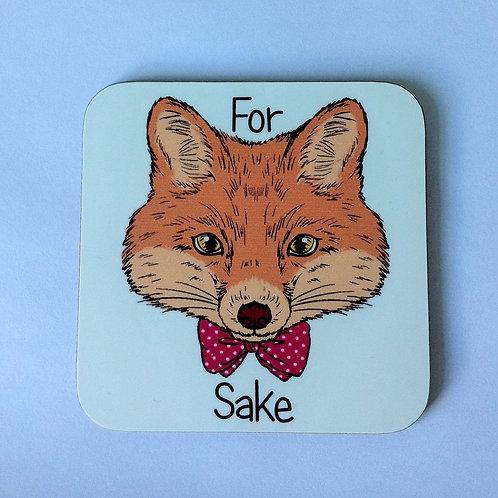 Fox Sake Wooden Coaster