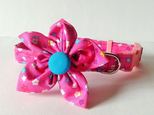 Pink Stars Flower Collar