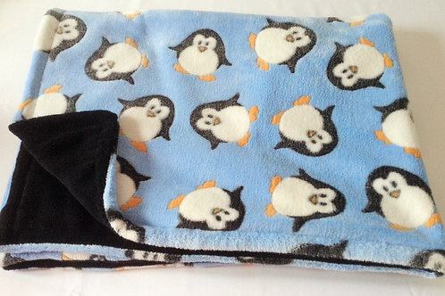 Blue Penguins on Black