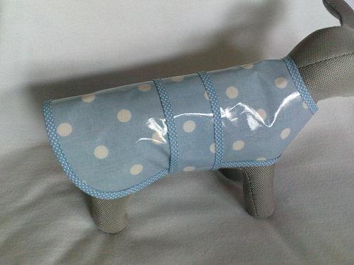Baby Blue Polka Dot Rain Coat