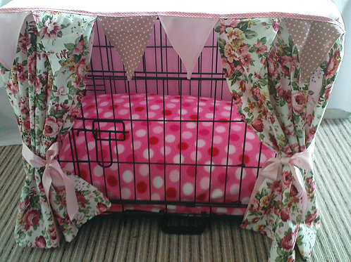 Pink Floral Crate Cover