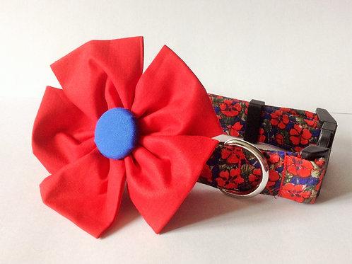 Royal Poppy Flower Collar