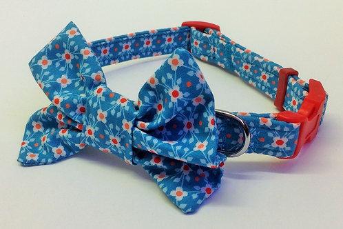 Mini Flower Bow Collar