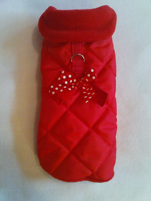 Red Polka Dot Waterproof with Bow