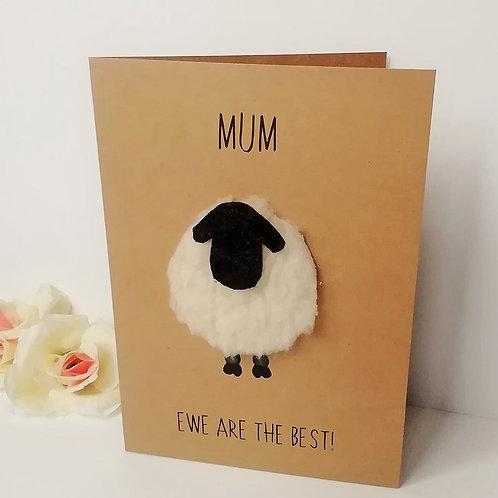 Mum Ewe Are The Best! Card