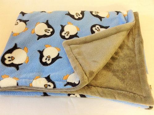 Blue Penguins on Grey