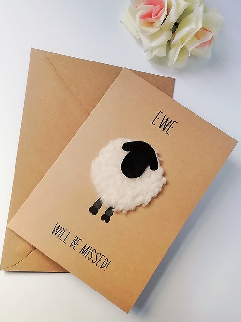Ewe Will Be Missed Card