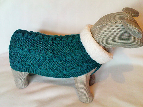 Sea Green Hand Knitted Jumper