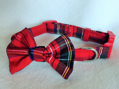 Tartan Bow Collar