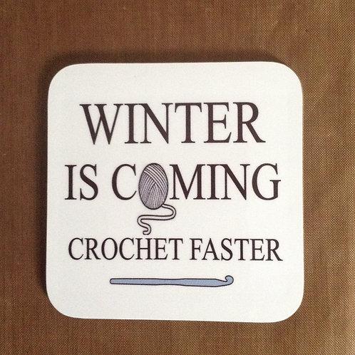 Crochet Faster Wooden Coaster