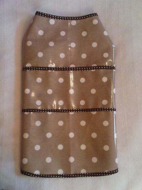 Brown Polka Dot Rain Coat