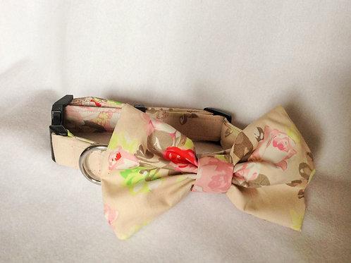 Dusky Floral Bow Collar