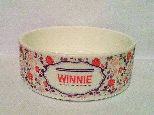 Springtime Floral Dog Bowl