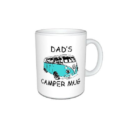 Personalised Blue VW Campervan Mug