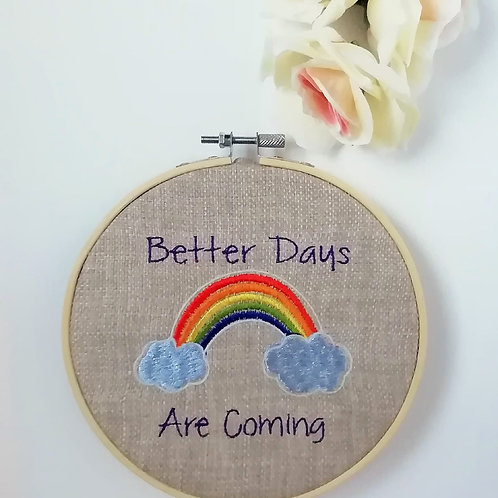 Rainbow Embroidered Wall Hanging