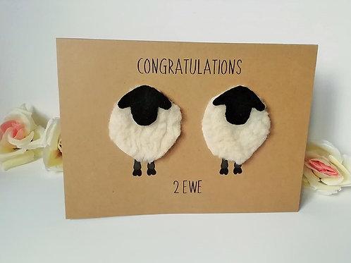 Congratulations 2 Ewe Card