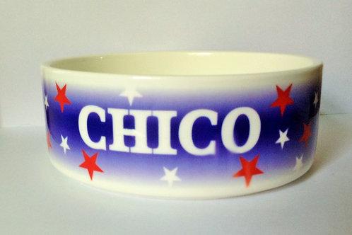 USA Stars Dog Bowl