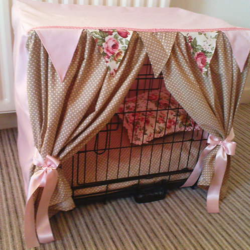 Pink & Beige Crate Cover