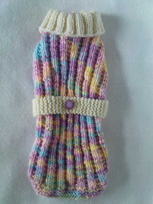 Pastel Mix Hand Knitted Jumper