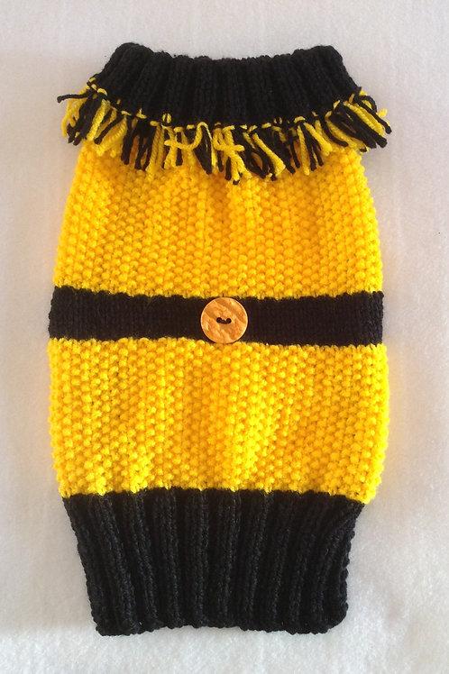Mustard & Black Knitted Jumper