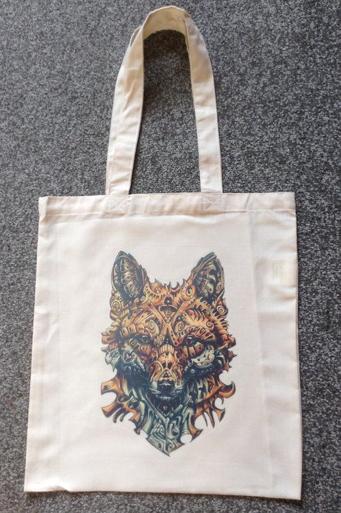 Steampunk Fox Tote Bag