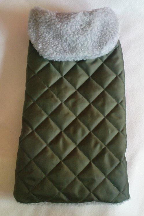 Olive & Sherpa Waterproof Coat