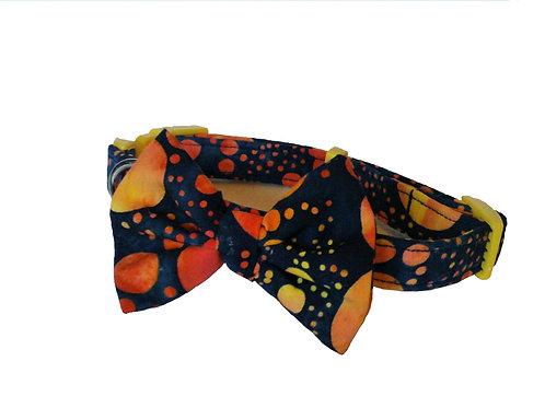 Batik Bow Collar
