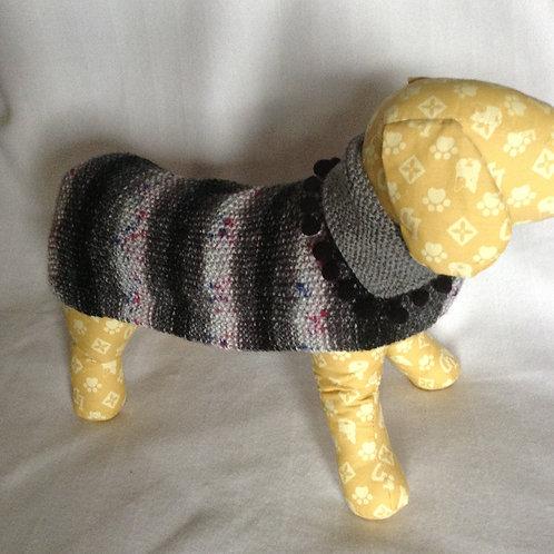 Grey Pom Pom Hand Knitted Jumper