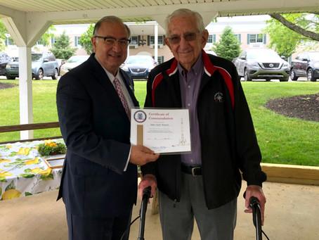 Jack Bennett Celebrates 70 Years in Easton Rotary